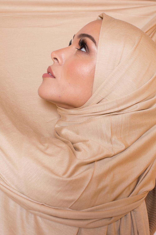 Maxi jersey égyptien beige nude