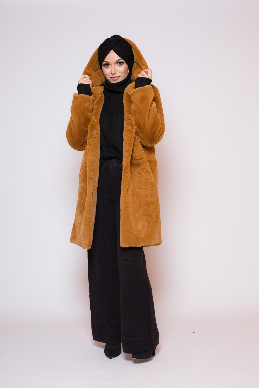 Manteau fourrure capuche teddy