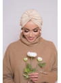 Bonnet turban beige clair boutique hijab