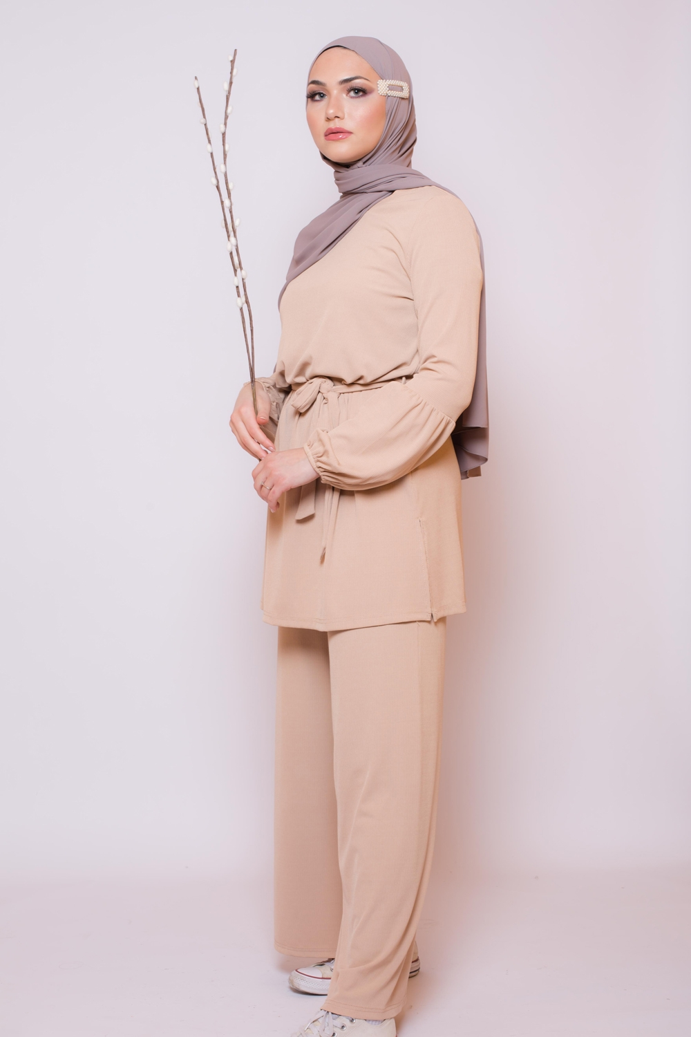 Ensemble casual chic nude