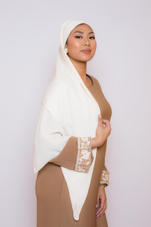 hijab luxe mousseline Ivoire
