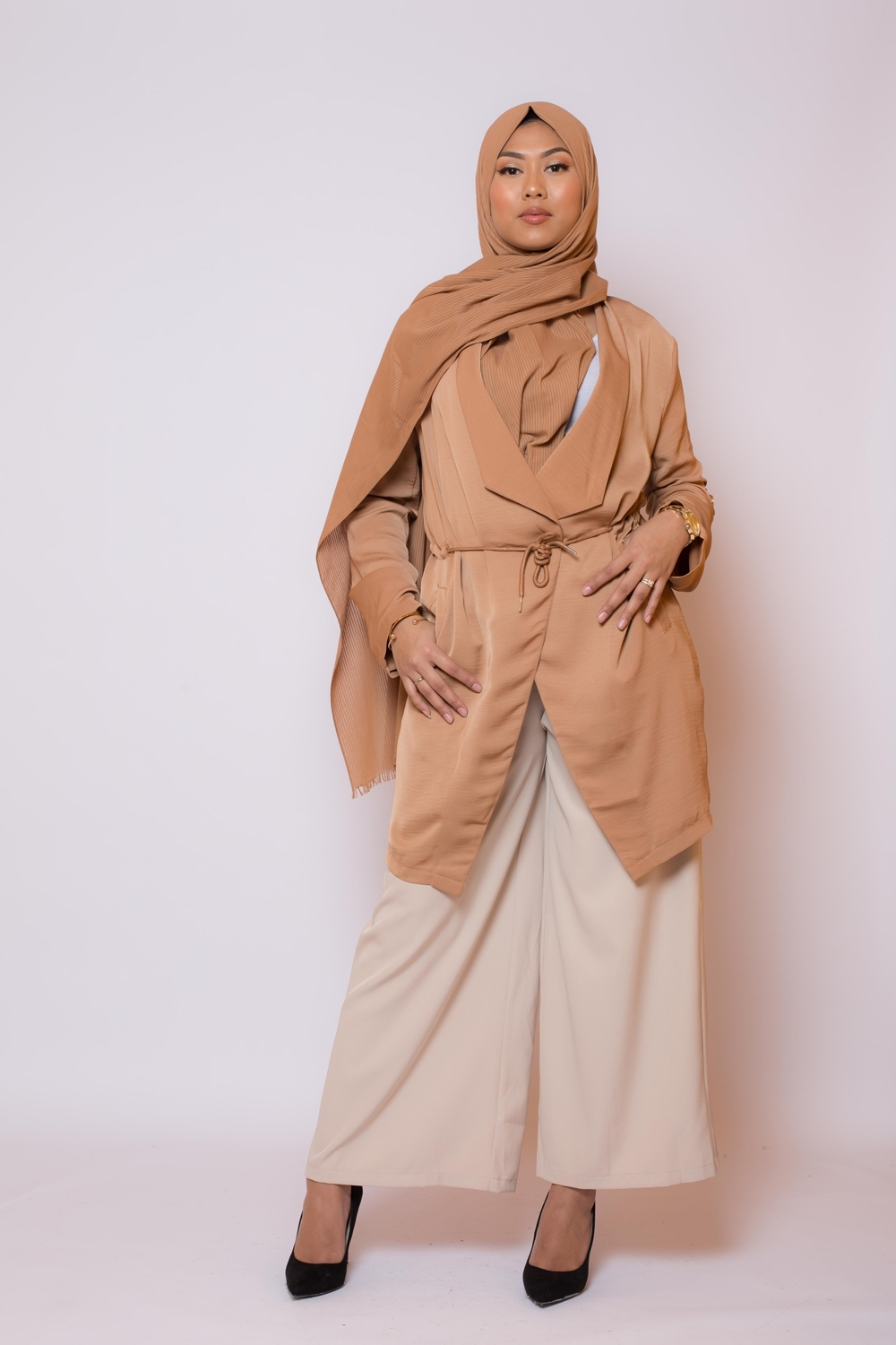 Veste printemps camel nouvelle collection printemps boutique hijab