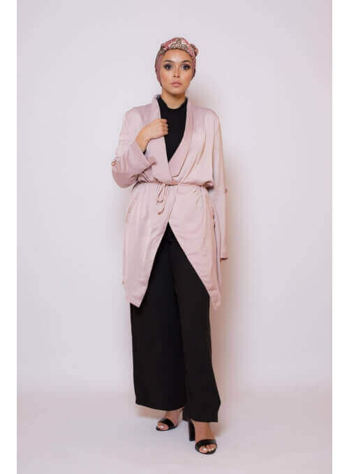 Veste printemps mauve collection printemps boutique hijab