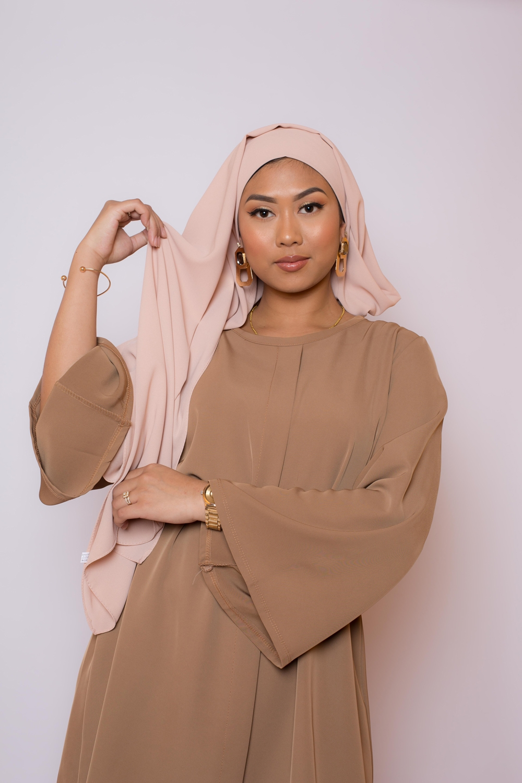 Hijab premium beige foncé