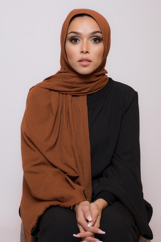 Hijab coton bio camel