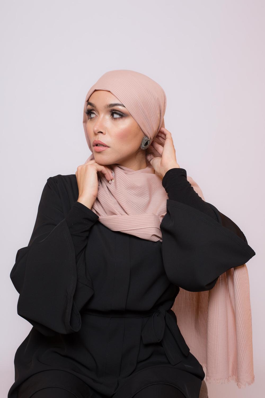 Hijab coton bio vieux rose