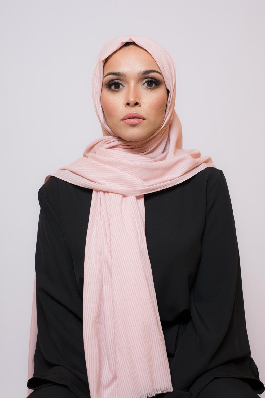 Hijab coton bio rose