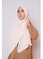hijab luxe mousseline nude boutique femme musulmane