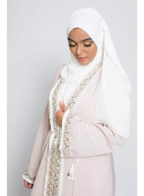 hijab luxe mousseline blanc boutique hijab