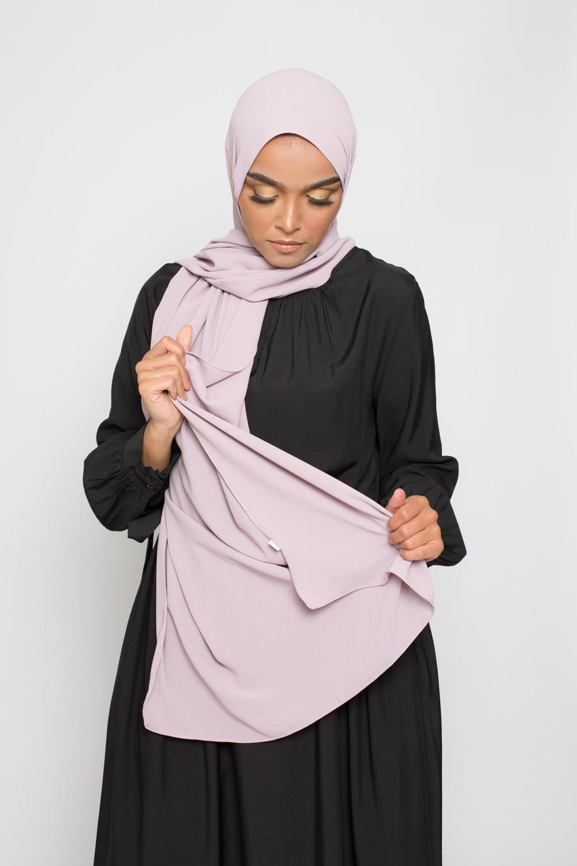 Hijab premium lilas