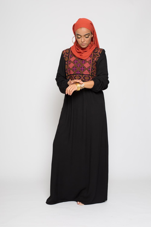 Robe ethnique noir