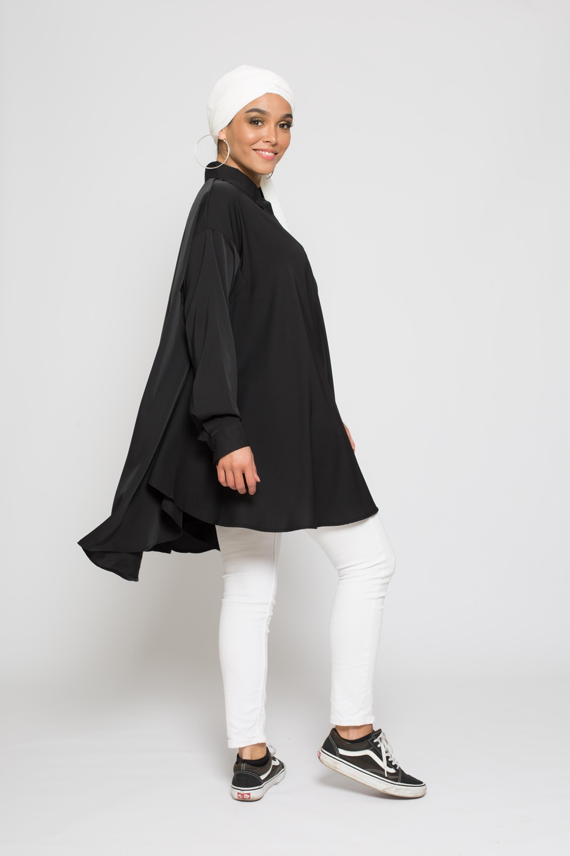 chemise oversize noir