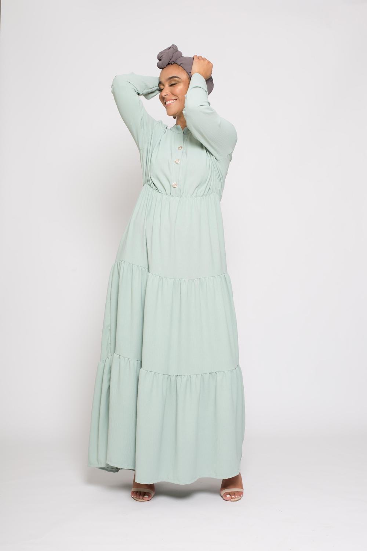 Robe bohème vert eau