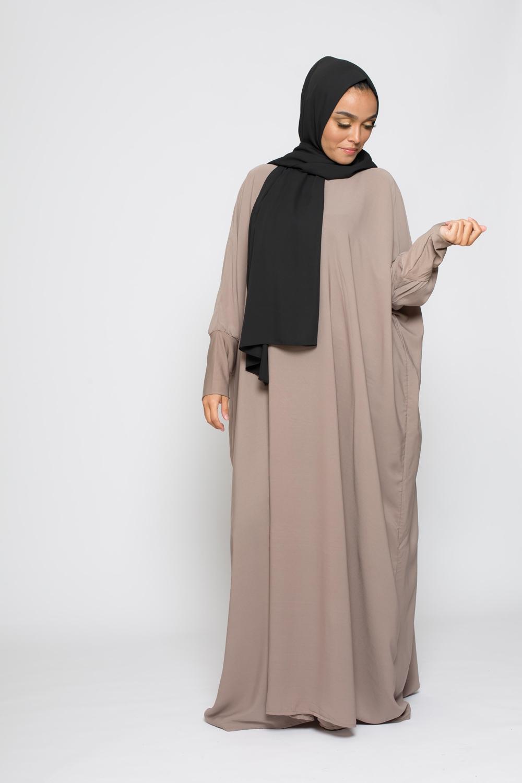Abaya saoudienne taupe