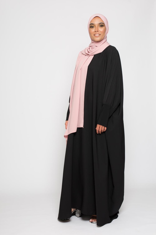 Abaya saoudienne noir