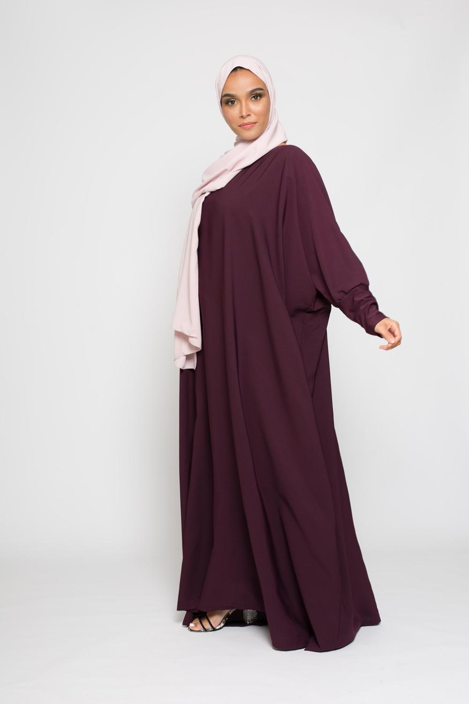 Abaya saoudienne prune