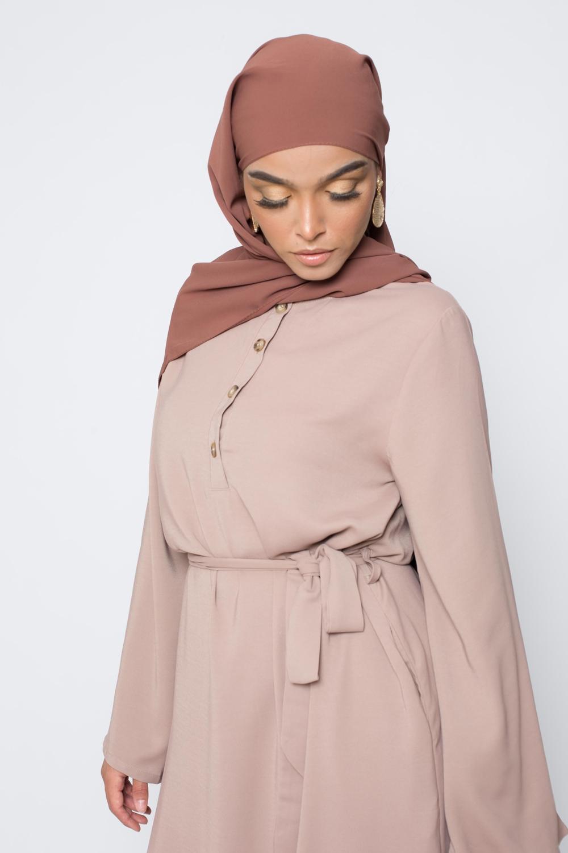 Hijab soie de médine camel