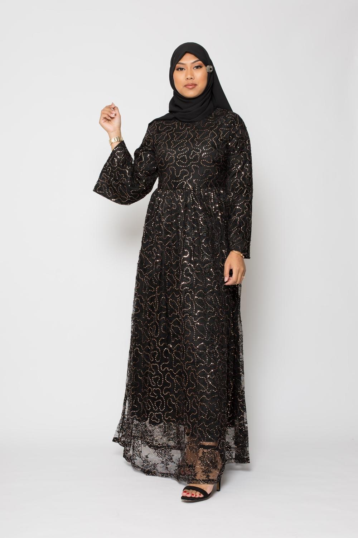 Robe Damas noir