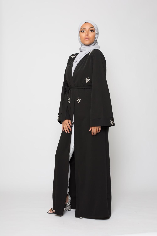 Kimono strass noir