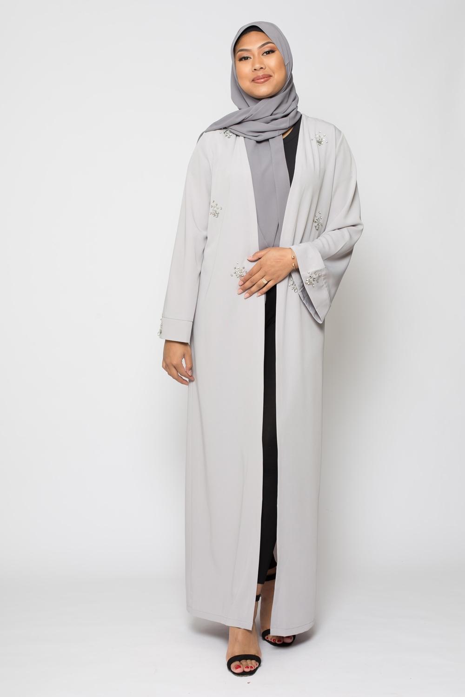 Kimono strass gris