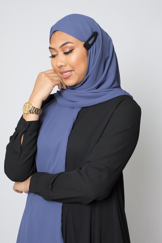 Barrette hijab perle noir