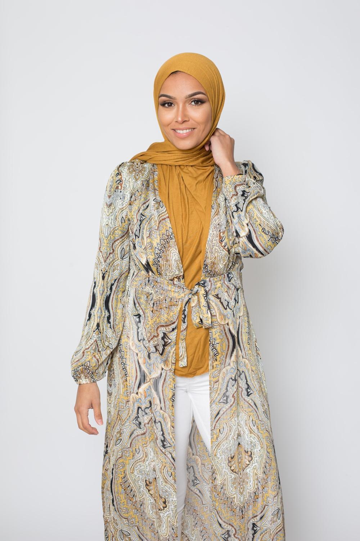Hijab jersey mustard