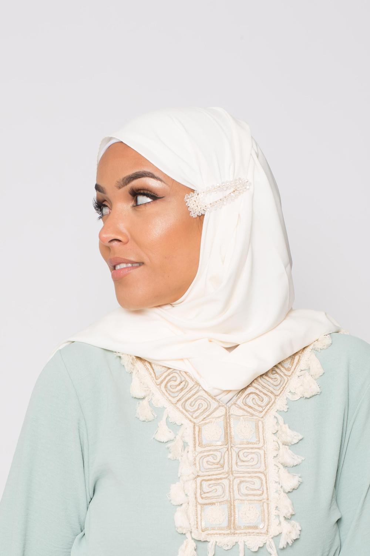 Barrette hijab transparente