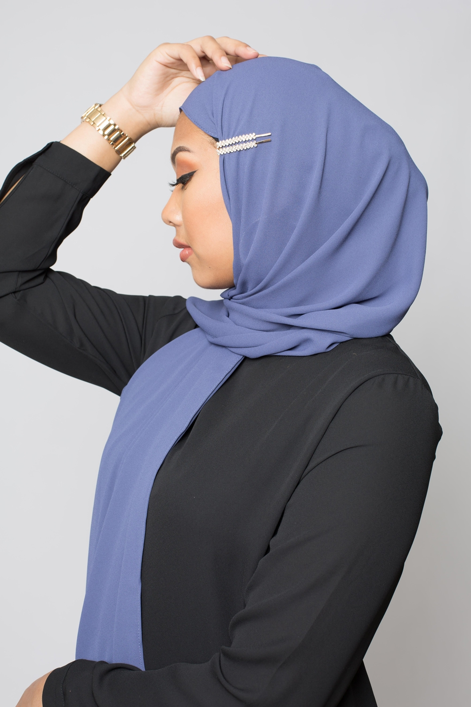 Lot de deux barrettes hijab gold