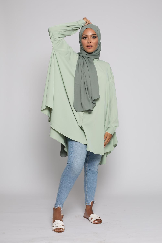 chemise oversize vert