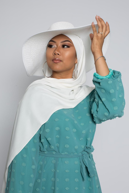 Hijab soie de médine blanc