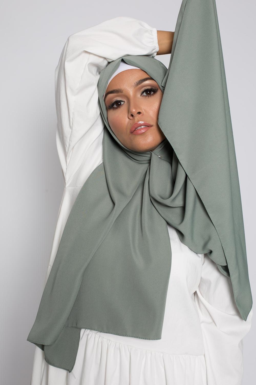 Hijab soie de médine sauge