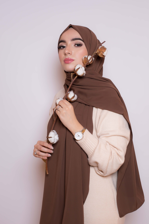 Hijab soie de médine choco