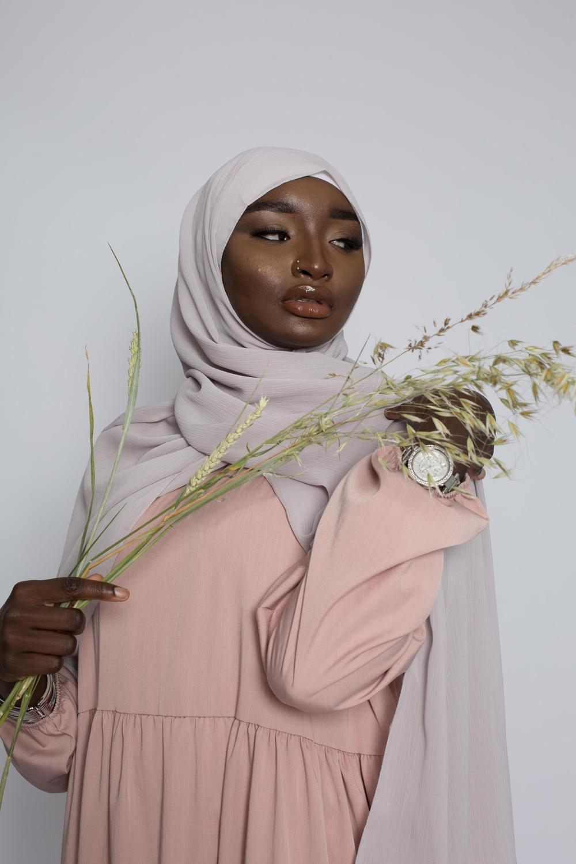 Hijab crêpe écorce taupe clair