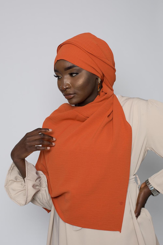 Hijab luxe jazz terracotta