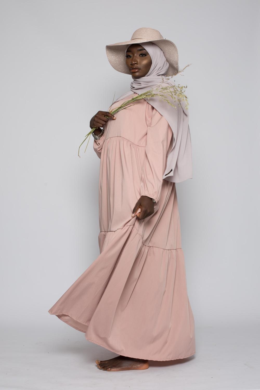 Robe Ample d'été rose poudré