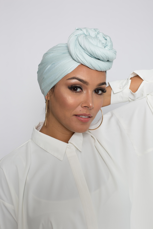 Hijab pure and cool vert eau