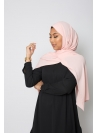 hijab luxe mousseline rose clair