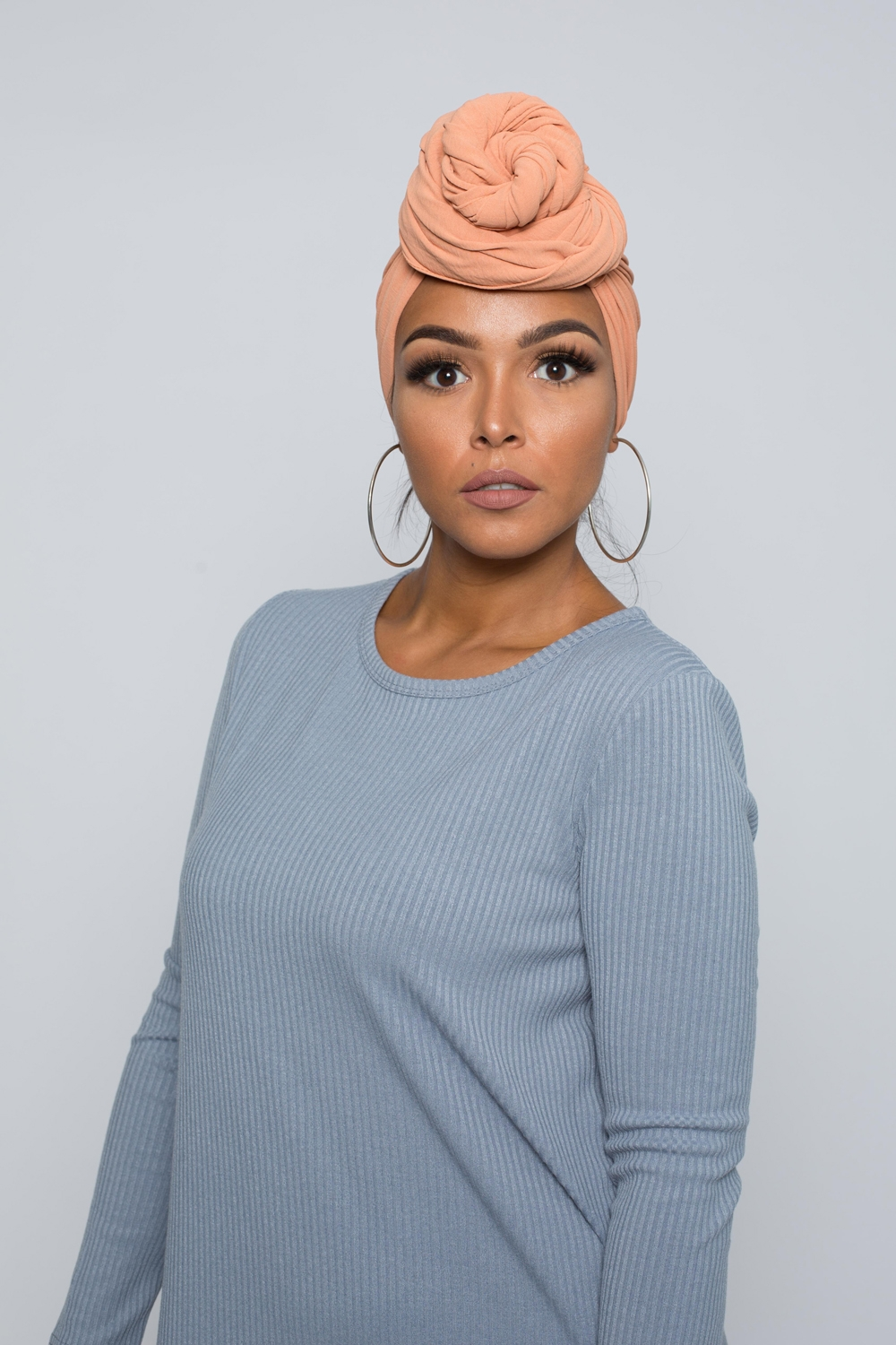 Hijab luxe jazz pêche boutique femme musulmane