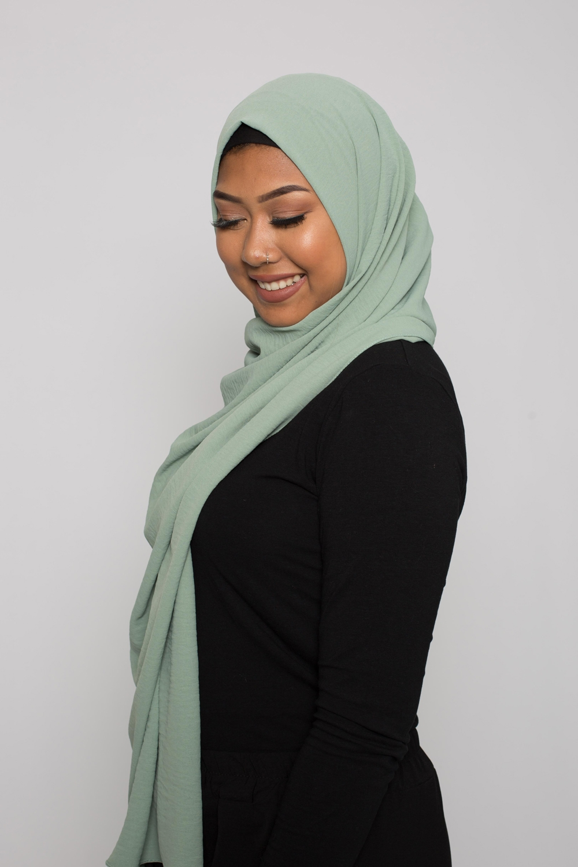 Hijab luxe jazz vert eau
