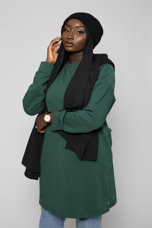 Hijab luxe jazz noir
