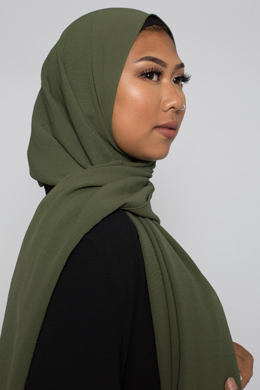 Hijab luxe jazz kaki