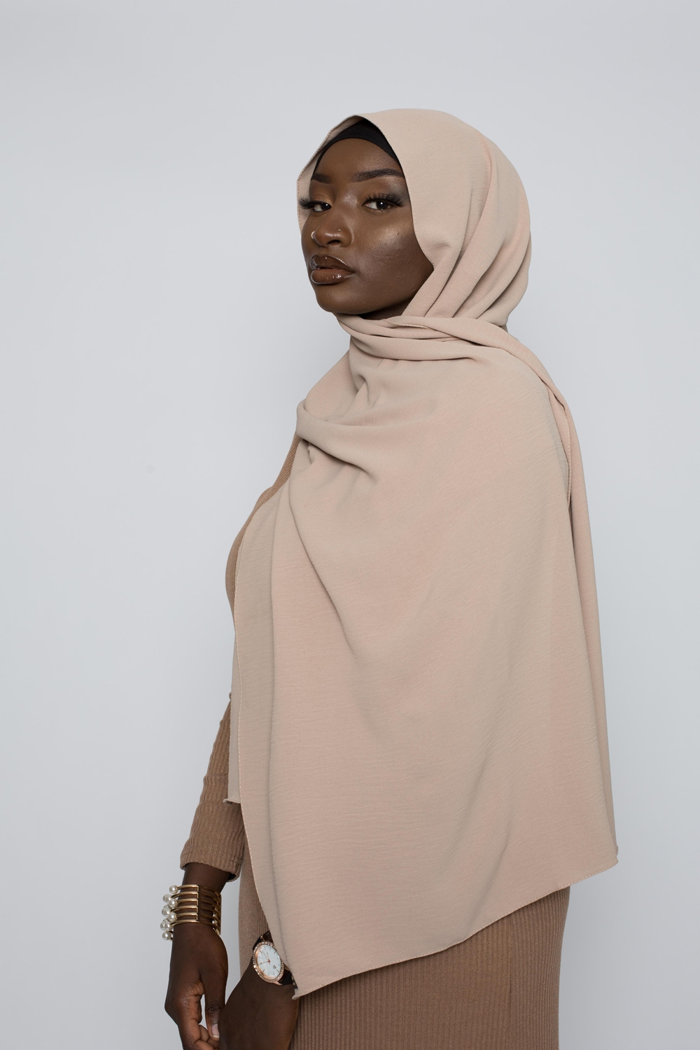 Hijab luxe jazz taupe