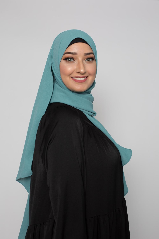 Hijab luxe jazz bleu vert