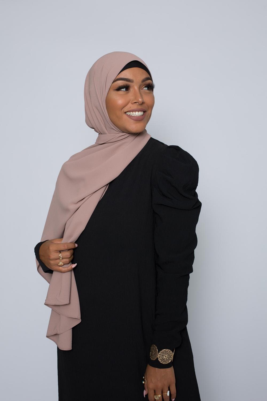 Hijab premium taupe rosé