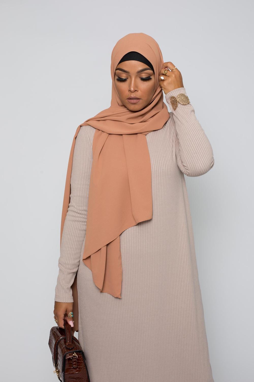 Hijab premium nude peach