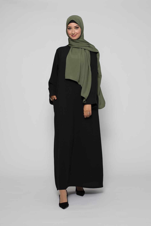 Abaya mi saison noir