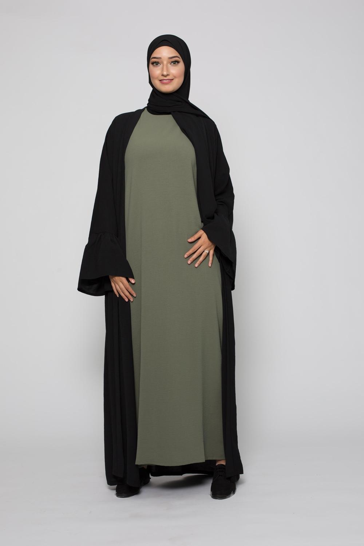 Abaya mi saison sauge