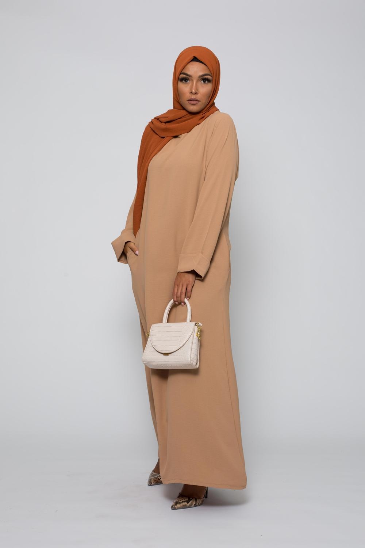 Abaya mi saison sable