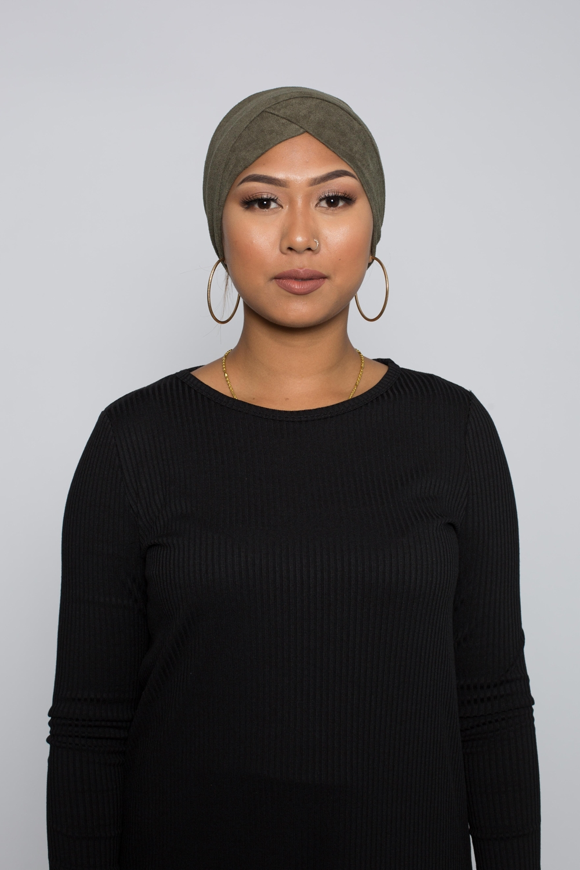 Turban simili daim kaki