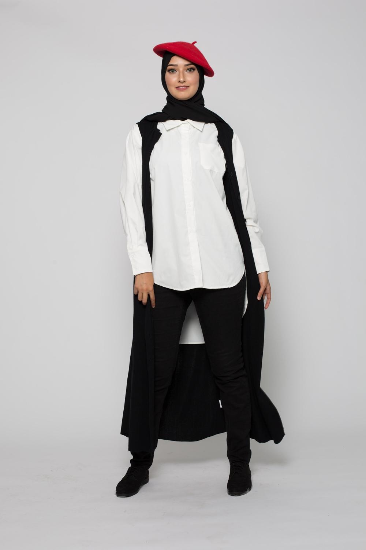 chemise asymétrique blanche